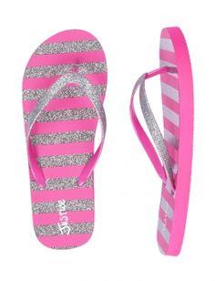 1c9074b0d0c3 Glitter Stripe Flip Flops Striped Flip Flops
