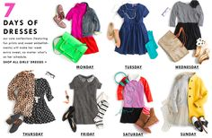 7 Days of Dresses by J. Crew