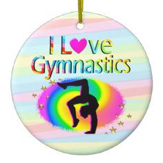 I LOVE GYMNASTICS RAINBOW ORNAMENT Every Gymnast will be inspired with our awesome personalized I love Gymnastics Gifts https://www.zazzle.com/collections/i_love_gymnastics_personalized_gifts-119756173861570670?rf=238246180177746410&CMPN=share_dclit&lang=en&social=true  Gymnastics #Gymnast #WomensGymnastics #personalizedGymnast