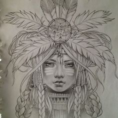 native american girl drawing - Buscar con Google