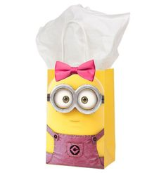 Girl Minion Instant Printable Download Party Favors by ImageOak