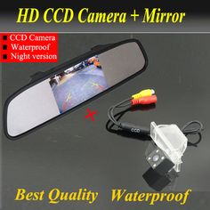 Factory New Promotion Car monitor mirror + car rear view backup camera for NISSAN QASHQAI X-TRAIL (2008-2012) Best Night Vision