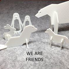 3D Simple Animals - Polar Series, Eunny Download on https://cults3d.com #3Dprinting
