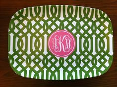 initialed platter: great gift idea