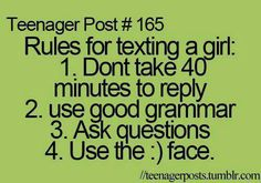This rule applied to anyone you're texting.