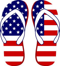Grab This Free Clip Art and Celebrate This 4th of July: American Flag Flip Flops