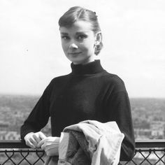 Audrey Hepburn during the filming of Funny Face in Paris, France, 1956. #audreyhepburn