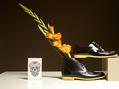 NAVYBOOT - Coloured Sole High-top Derby