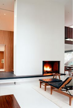 Love This Off Centered Fireplace Wall Home Modern