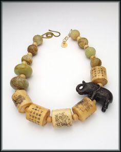 Custom Made Lucky Elephant - Necklace