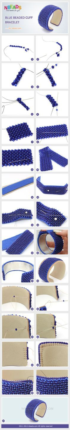 #DIy #Howto Summary: Today's creative craft is a beaded cuff. Are you ready to spend your time on DIY cuff bracelet? I bet you will be willing to go with us. For the blue beaded cuff is so charming that you can't move your eyes away from it. Now let me show you to ha