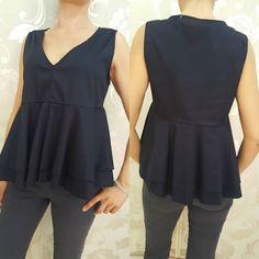 #camicia #blu #volant #valeria #abbigliamento