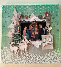 Mixed Media Layout with Merry & Bright!