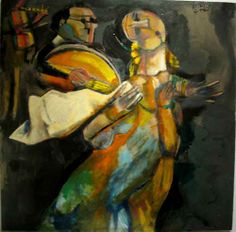 Georges Bahgory, Egypt | Om Kalthoum & Asabji I | 120 x 120 cm | Oil on Canvas | 2010