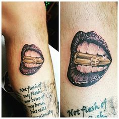 Bullet and lips by Johnny @yiannidrakakidis #tattoo #tattoos #tat #ink #inked #tatted #instatattoo #bodyart #art #design #instaart #tattooed #tattoist #coverup#instagood #sleevetattoo #handtattoo #chesttattoo #photooftheday #tatts #tats #amazingink #tattedup #inkedup #lips #lipstick #bullet
