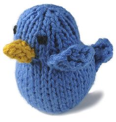 Knitted Bluebird Pattern- would be cute to put into a nest in a Spring wreath.