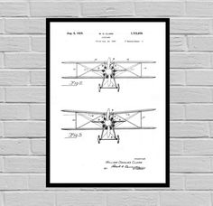 Airplane Decor, Airplane Art, Airplane Print, Aviation Decor, Airplane Patent, Aviation Art, Aviation Art, Pilot Gift by STANLEYprintHOUSE  0.79 USD  This is a vintage patent print. An early Airplane from 1929.  This poster is printed using high quality archival inks, and will be of museum quality. Any of these posters will make a great affordable gift, or tie any room together.  Please choose between different sizes and colors.   ..  https://www.etsy.com/ca/listing/479559360/airpl..