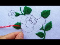 Stitch Design, Beautiful Roses, Design Tutorials, Hand Embroidery, Stitches, Diy And Crafts, Amazing, Flowers, Youtube