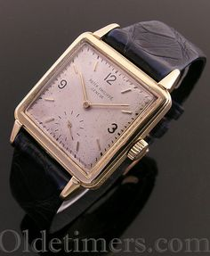An 18ct gold square vintage Patek Philippe watch, 1949