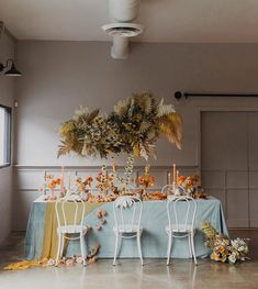 Earthy + Autumnal: Burnt Sienna Hues Inspired This Modern + Free-Spirited Editorial - Green Wedding Shoes Reception Decorations, Table Decorations, Event Decor, Gold Table Runners, Wedding Dress Boutiques, Sweetheart Table, Green Wedding Shoes, Orange Wedding, Floral Centerpieces