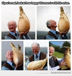 Just a man and his onion