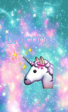 Made by me✨✨ Iphone Wallpaper Unicorn, Unicorn Backgrounds, Cute Emoji Wallpaper, Pink Wallpaper Iphone, Bear Wallpaper, We Bare Bears Wallpapers, Cute Wallpapers, Emoji Tumblr, Cool Emoji