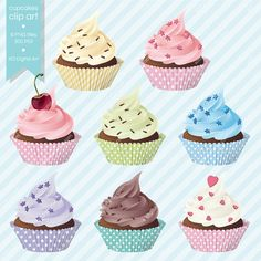 Digital Cupcakes clip art cupcake clipart for by xoDigitalArt, $6.00