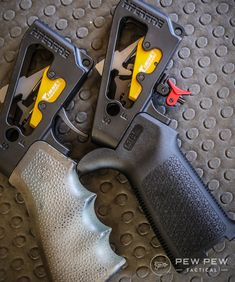 We cover the most popular from drop-in to upgraded mil-spec. Plus video of each trigger pull and fastest split times. Ar Pistol Build, Ar15 Pistol, Ar Build, Weapons Guns, Guns And Ammo, Custom Ar15, Ar Parts, Tactical Accessories, Ar Platform