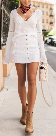 All white + tan.