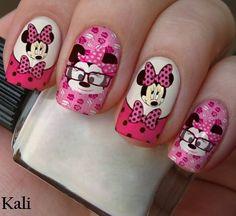 Minnie Mouse Nails, Minnie Cake, Fall Nail Art Designs, Short Nail Designs, Minnie Mouse Birthday Decorations, Cute Christmas Nails, Disney Nails, Nail Decorations, Nail Tutorials