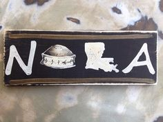 Fleurty Girl - Everything New Orleans - NOLA Dome & State Sign, Black and Gold