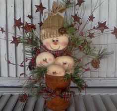 Tin can snowmen