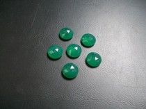 sale (5x5), (6x6) mm natural GREEN ONYX round rose cut AAA quality have lots of gorgeous beautiful green color
