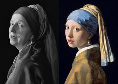 Laura Hofstadter - recreating famous paintings as self-portraits