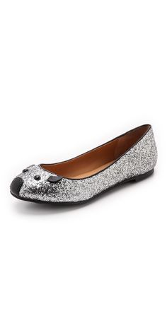 Marc by Marc Jacobs Space Glitter Mouse Ballerina Flats | SHOPBOP