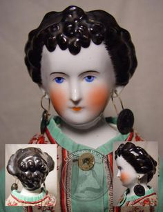 1860's Countess Dagmar, China Head Doll - links to other examples of Antique China Dolls, 1836-