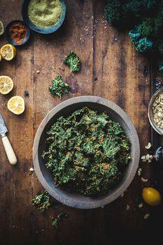 Nutty Southwestern Kale Chips - The Kitchen McCabe