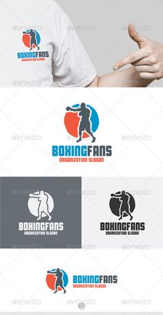 Boxing Fans	 Logo Design Template Vector #logotype Download it here: http://graphicriver.net/item/boxing-fans-logo/5275152?s_rank=640?ref=nexion
