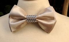 Bow tie Champagne Gold Bow Tie Boys Bow by IsabellaCoutureShop, $15.99