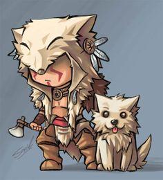 Mini wolf by ~sazienas on deviantART