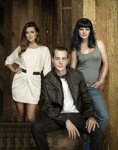 NCIS GANG ..... Cote de Pablo (plays Ziva David), Sean Murray (plays Timothy McGee), Pauley Perrette (plays Abby Sciuto)