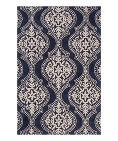 Look at this Blue Damask Wool Rug on #zulily today!