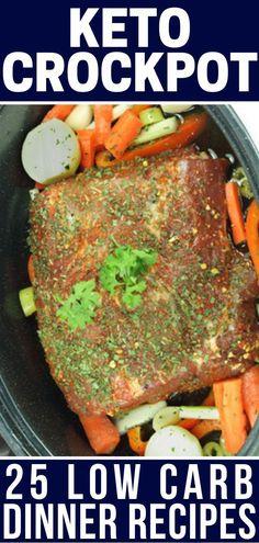 These slow-cooking keto crockpot recipes for dinner make clean eating on the keto diet easy! And there's tons of variety from healthy keto crockpot chicken, beef, roasts, and pulled pork to low carb soups and chilis plus veg Keto Crockpot Recipes, Ketogenic Recipes, Slow Cooker Recipes, Vegetarian Recipes, Cooking Recipes, Healthy Recipes, Ketogenic Diet, Slow Carb Recipes, Veggie Recipes