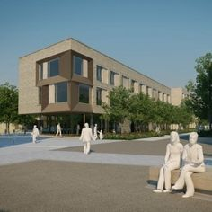 Architectural designs for the new post-graduate student accommodation for the University of Cambridge at the North West Cambridge Developmen...