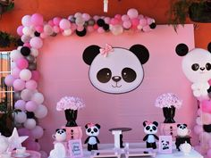 We give you the best Ideas for 3 year old girl parties, with modern themes like a Masha piñata and the Bear or a LOL sorprise birthday. Panda Themed Party, Panda Birthday Party, Panda Party, Birthday Parties, Hello Kitty Birthday, Girl Parties, Pink Panda, Panda Love, Cute Panda