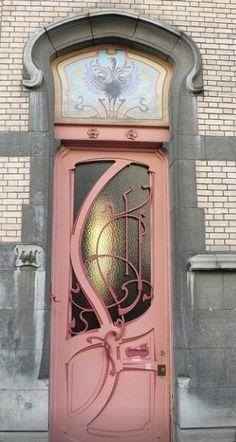 Art nouveau door in Buenos Aires