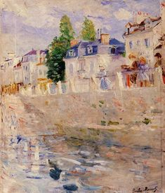 The Quay at Bougival (Berthe Morisot - 1883)