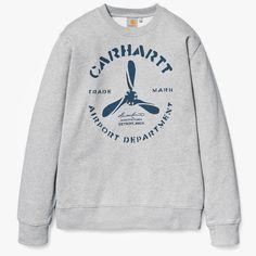 Carhartt Propeller Sweat Grey Heather/Navy