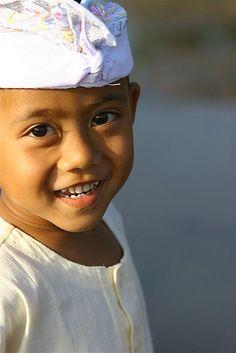 Balinese boy smiling, Bali, Indonesia