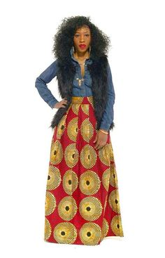 NEW Meno Skirt by THEAFRICANSHOP on Etsy